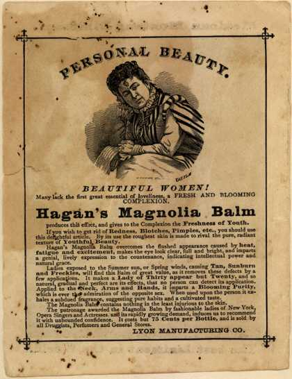 Lyon Manufacturing Company's Hagan's Magnolia Balm – Personal Beauty