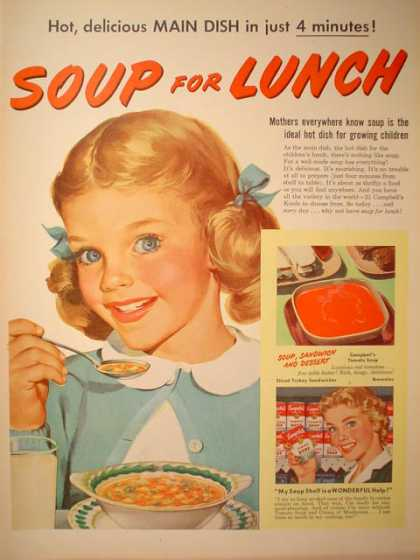 Campbells Soup for Lunch Little Girl (1952)
