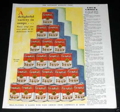 Campbell Soup Can Pyramid (1929)
