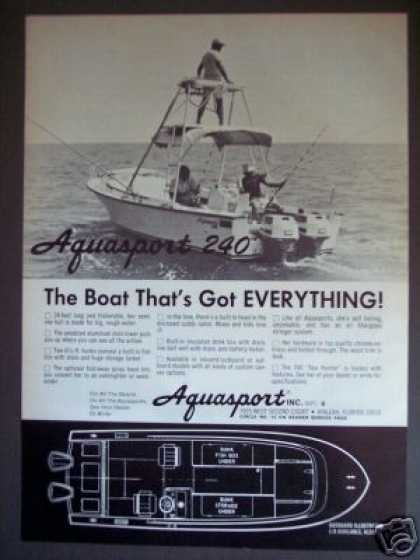 Aquasport 240 Fishing Boat Boating (1971)