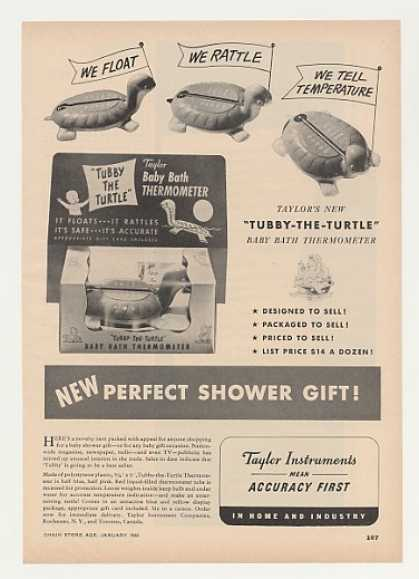Taylor Tubby The Turtle Baby Bath Thermometer (1955)