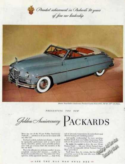 Packard Custom Convertible Nice Color Photo (1949)