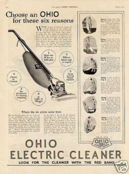 Ohio Electric Vacuum Cleaner (1921)