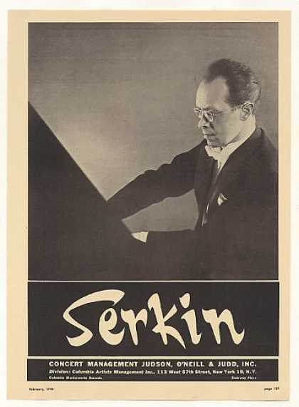 Pianist Rudolf Serkin Photo (1948)