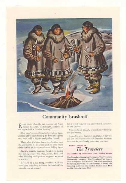 Point Barrow Eskimos Trouble Burning Travelers (1952)