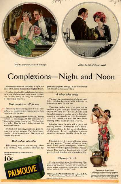 Palmolive Company's Palmolive Soap – Complexions – Night and Noon (1921)