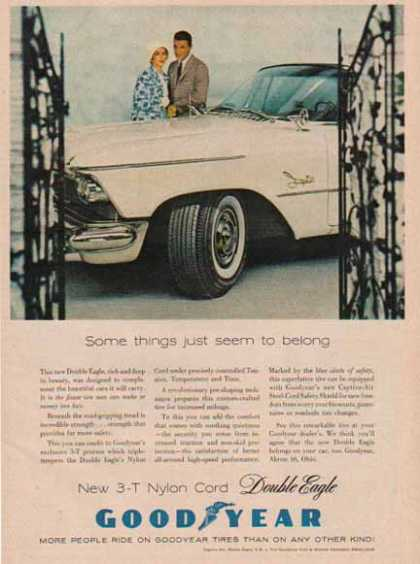 Goodyear Tire – Double Eagle 3 – T Nylon Cord Tire (1958)