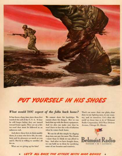 Belmont Radio's War Bonds – Put Yourself In His Shoes (1944)
