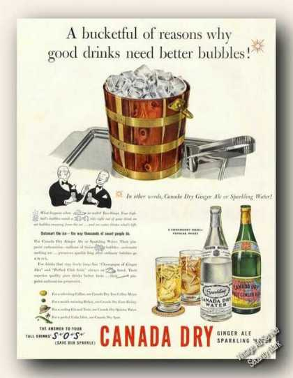 Canada Dry Ginger Ale or Sparkling Water Color (1941)