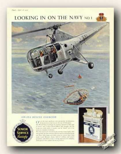 Senior Service Cigarettes Air-sea Rescue Uk (1956)