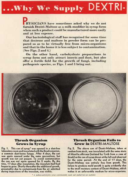 Mead Johnson and Company's Dextri-Maltose – ...Why We Supply Dextri-Maltose in Powder Form Only (1932)