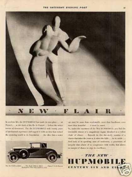 "Hupmobile Car Ad ""New Flair... (1929)"
