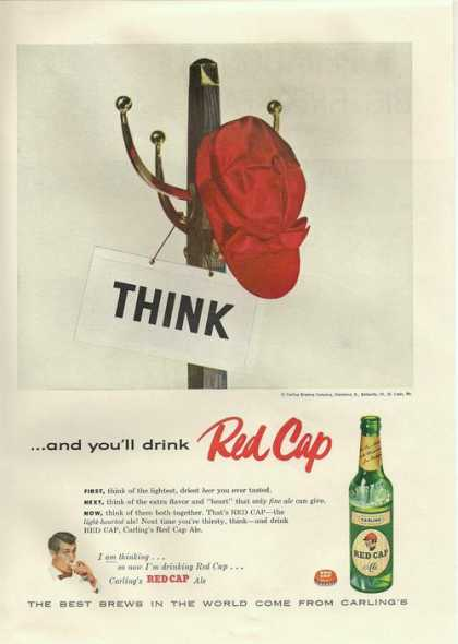 Carlings Red Cap Ale Beer (1955)