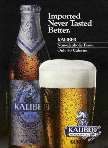 Kaliber Non-alcoholic Beer By Guiness (1986)
