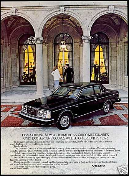 Volvo Bertone Coupe Car Limited Production (1980)