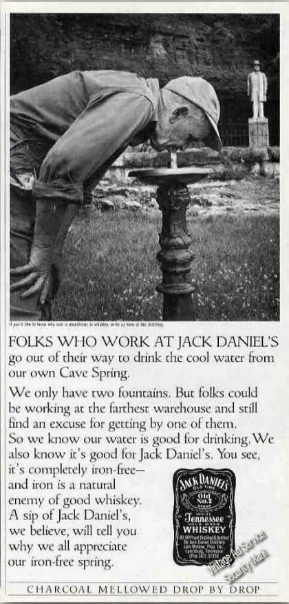 Jack Daniel's Fountain Water From Cave Spring (1985)