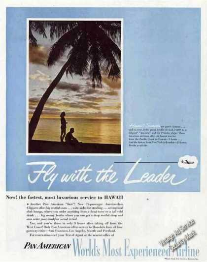 Pan American Airline To Hawaii Photo (1949)