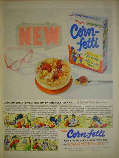 Post Corn-Fetti Magic Sugar Coat Captain Jolly (1953)