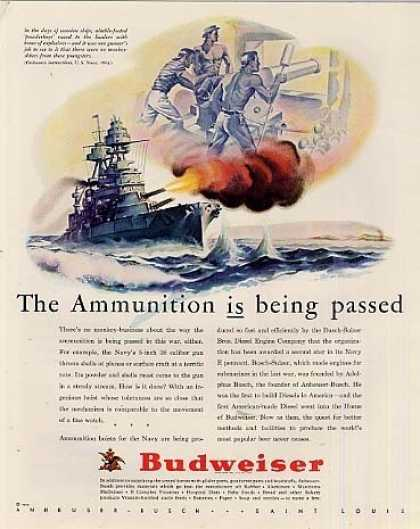 "Budweiser Beer Ad ""The Ammunition... (1943)"
