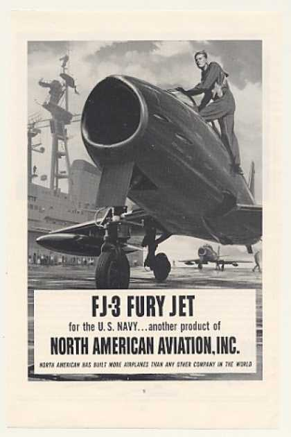 US Navy FJ-3 Fury Jet North American Aviation (1954)