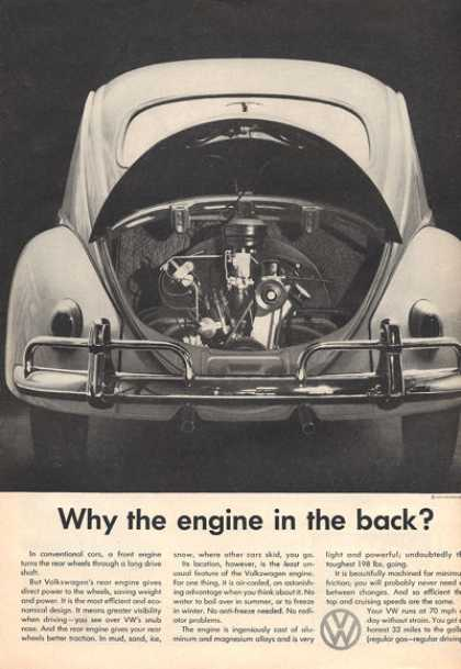 Vw Volkswagen Why Engine In the Back? (1959)