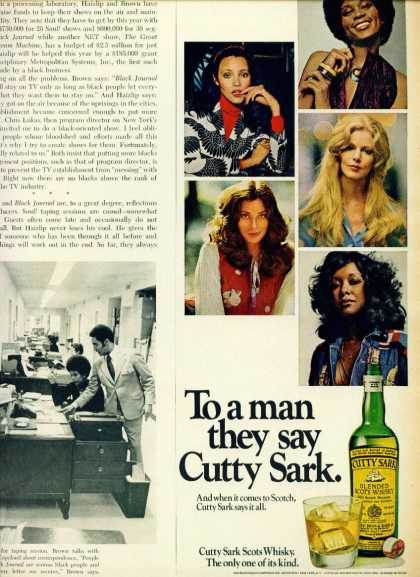 Cutty Sark Blended Scots Whisky C 1/2 Page (1970)