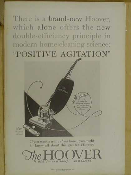 The Hoover Vacuum. Positive agitation (1926)