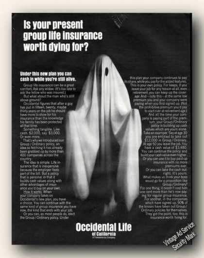 Worth Dying For? Occidental Life Ghost (1967)