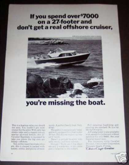 Original Chris Craft Cavalier 27 Boat Photo (1965)
