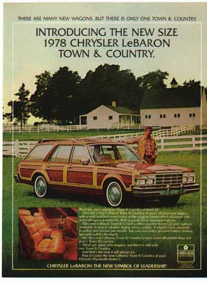 Chrysler Car – Le Baron Town & Country / Red with side panels (1978)
