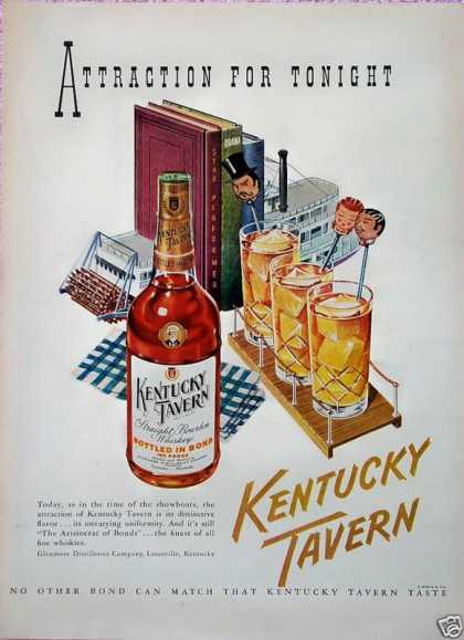 Kentucky Tavern Whiskey Paddle Boat Showboat Books (1948)