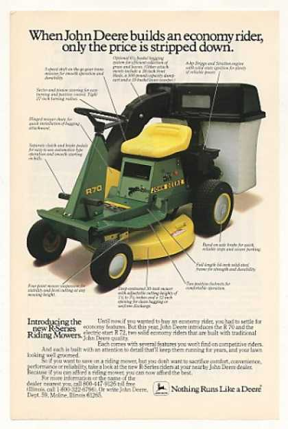John Deere R 70 R70 Rider Riding Mower (1984)
