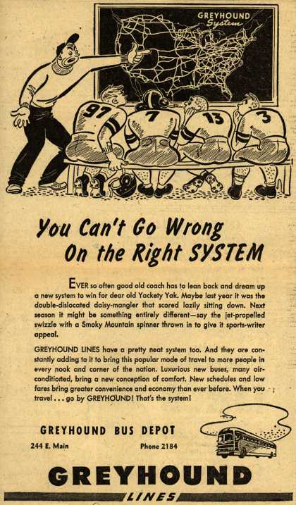 Greyhound – You Can't Go Wrong On the Right System (1946)