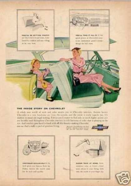 "Chevrolet Car Ad ""The Inside Story... (1954)"