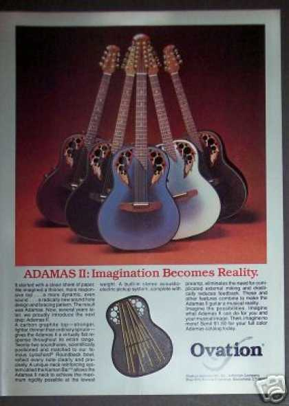 Ovation Adamas Ii Acoustic Guitar (1982)