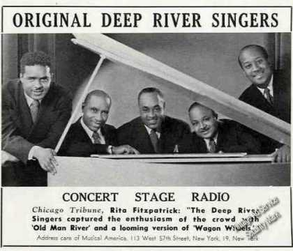 Original Deep River Singers Concert Stage Radio (1947)