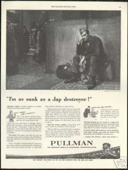 Pullman Train Railroad WWII Soldier (1943)