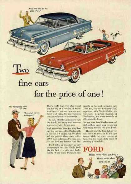 "Ford ""2 Fine Cars for the Price of One"" (1953)"