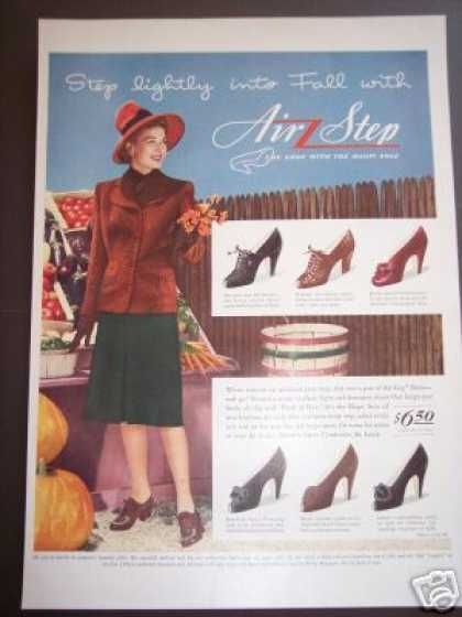Original Autumn Market Scene Air Step Shoes (1942)