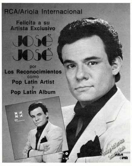Jose Jose Photos Rca/ariola Music Promo (1986)