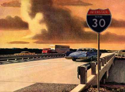 Interstate 30 east of Dallas Portland Cement Association, Stan Galli (1960)