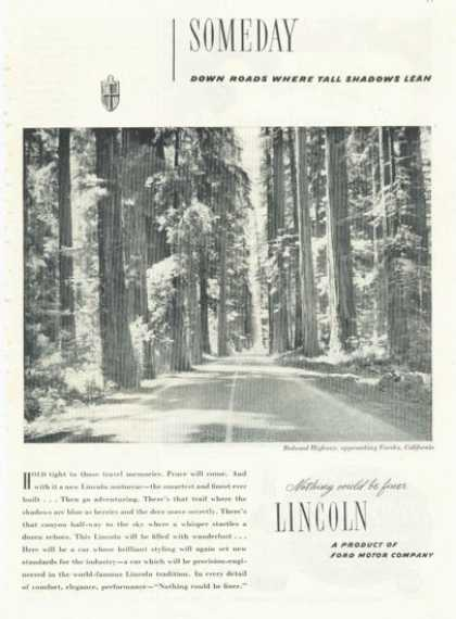 Ford Lincoln Redwood Highway Eureka California (1945)