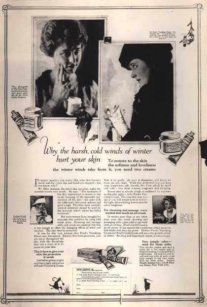 Pond's Extract Co.'s Pond's Cold Cream and Vanishing Cream – Why the harsh, cold winds of winter hurt your skin (1918)