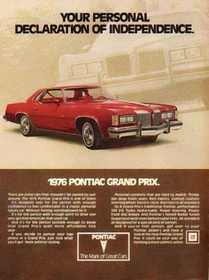 Pontiac Car – Grand Prix – Red (1976)