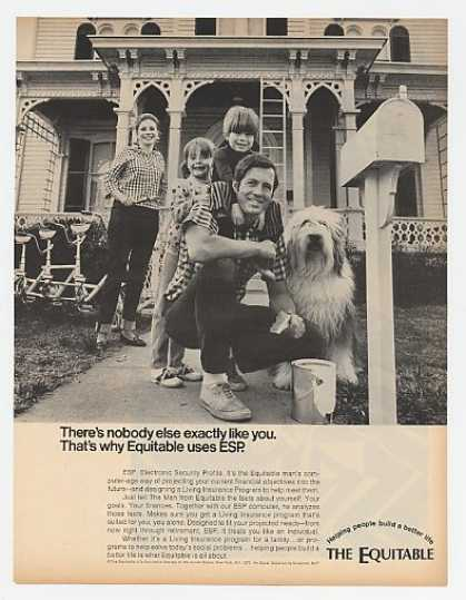 Equitable Life Ins Uses ESP Family Sheepdog (1970)