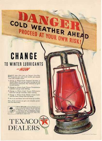 Texaco Dealers Oil Lantern T (1940)