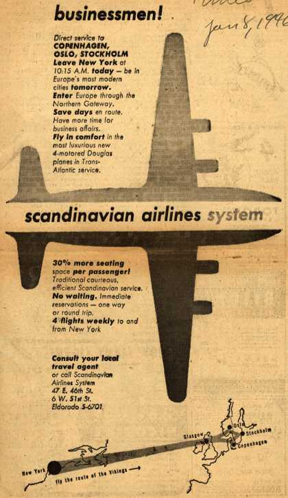 Scandinavian Airlines System's Business Travel – Businessmen (1946)