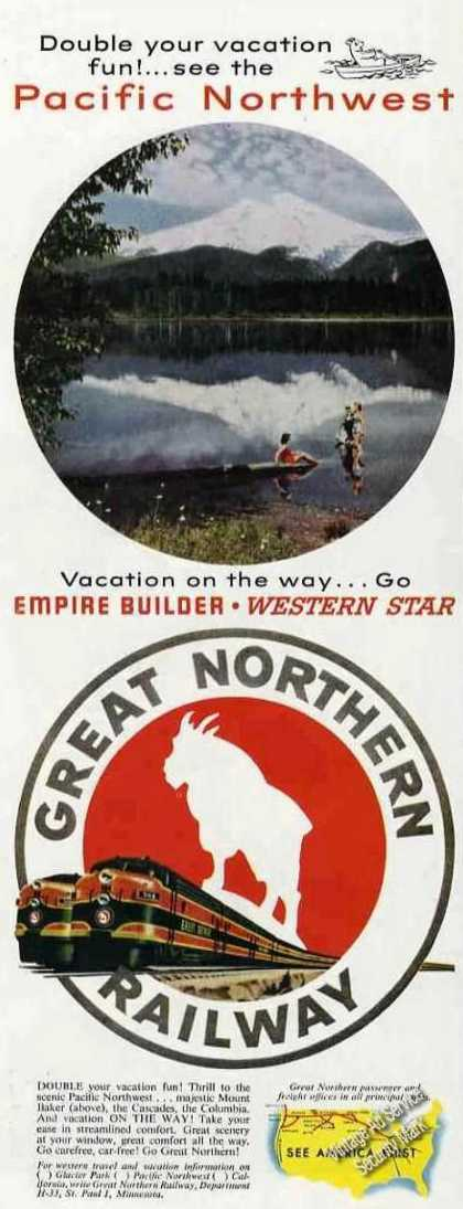 Great Northern Railway Mount Baker Photo Trains (1953)