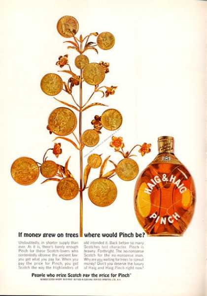 Haig Money Tree Scotch Whisky Bottle (1963)