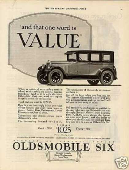 Oldsmobile Six Car (1926)